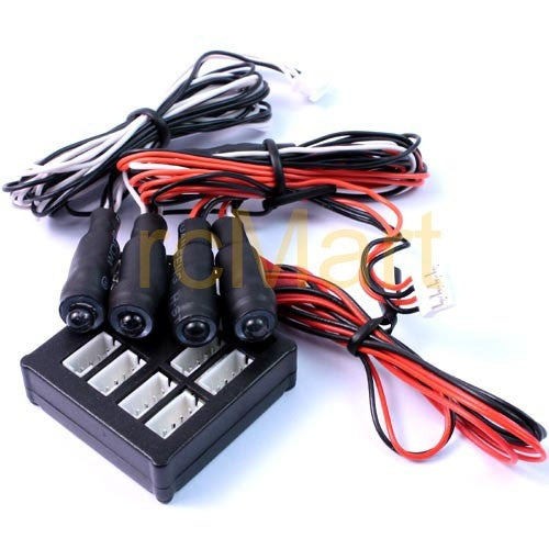 Yeah Racing (#LK-0023WT/RD) Angeleye Main Unit w/LED (WT/RD) Light Kit set
