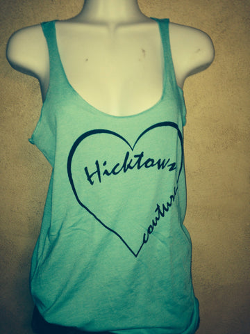 Ladies Hick Heart- Racerback Tank Tops