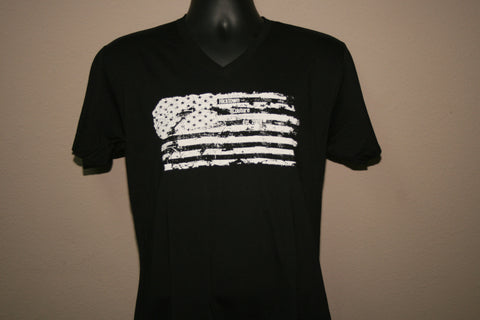 Men's Grunge Flag- V-Neck