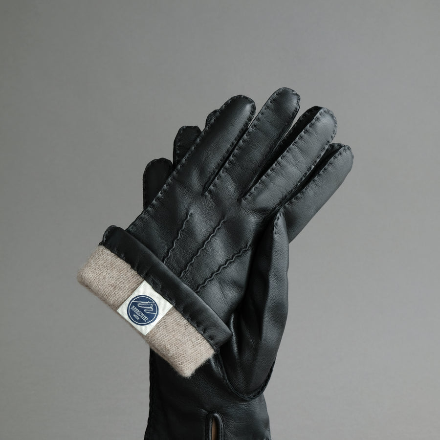 Gentlemen's Gloves from Black Hair Sheep Nappa Lined with Cashmere