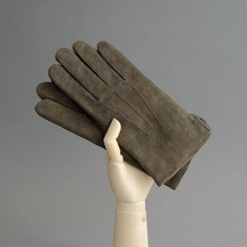 Gentlemen's Gloves from Walnut Goatskin Lined with Cashmere