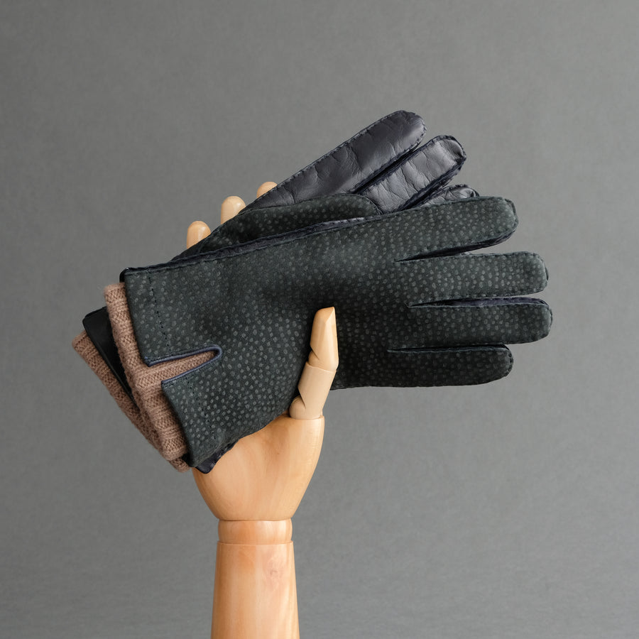 Gentlemen's Gloves from Carpincho and Nappa Leather Lined with Cashmere