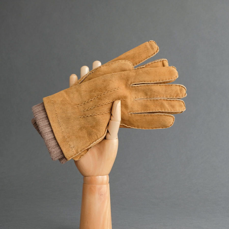 Gentlemen's Gloves from Cognac Goatskin Lined with Cashmere