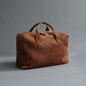 Weekender From Chocolate Brown Goatskin Suede