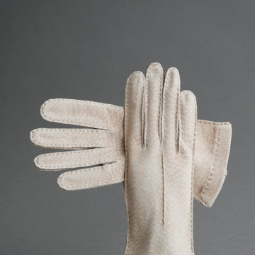 Ladies Dress Gloves from Beige Carpincho Leather