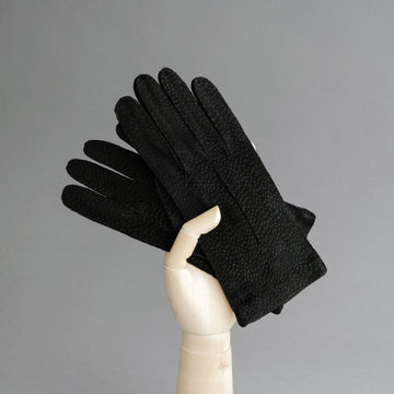Ladies Dress Gloves from Black Carpincho Leather
