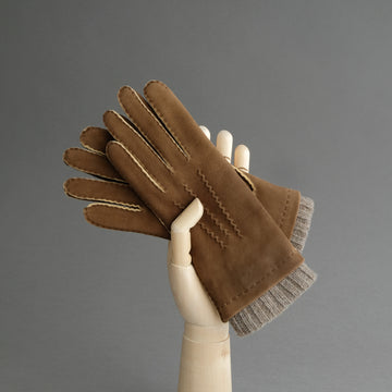 Ladies Gloves from Brown Goatskin Lined Cashmere