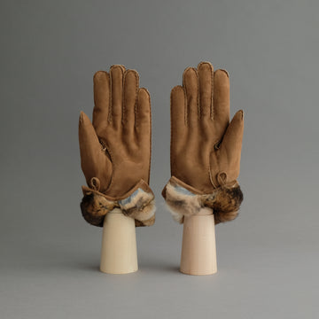 Gentlemen's Gloves from Brown Reindeer Suede Lined with Orylag Fur