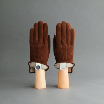 Gentlemen's Gloves from Chocolate Brown Goatskin Lined with Cashmere