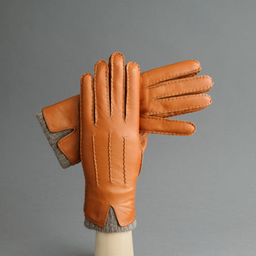 Gentlemen's Gloves from Hair Sheep Nappa Lined with Cashmere