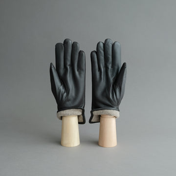 Gentlemen's Gloves from Dark Brown Deerskin Lined with Cashmere