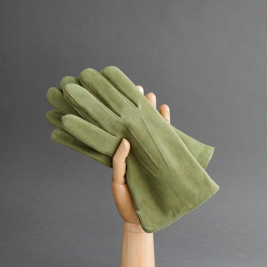 Gentlemen's Gloves from Moss Goatskin Lined with Cashmere