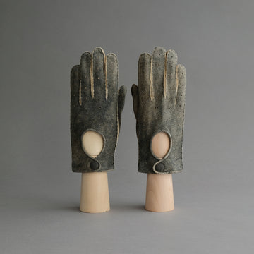 Gentlemen's Unlined Driving Gloves from Walnut Goatskin