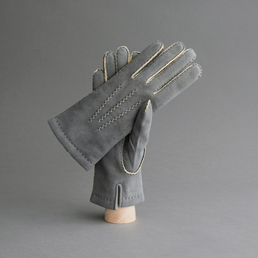 Ladies Gloves from Grey Doeskin with Cashmere Lining