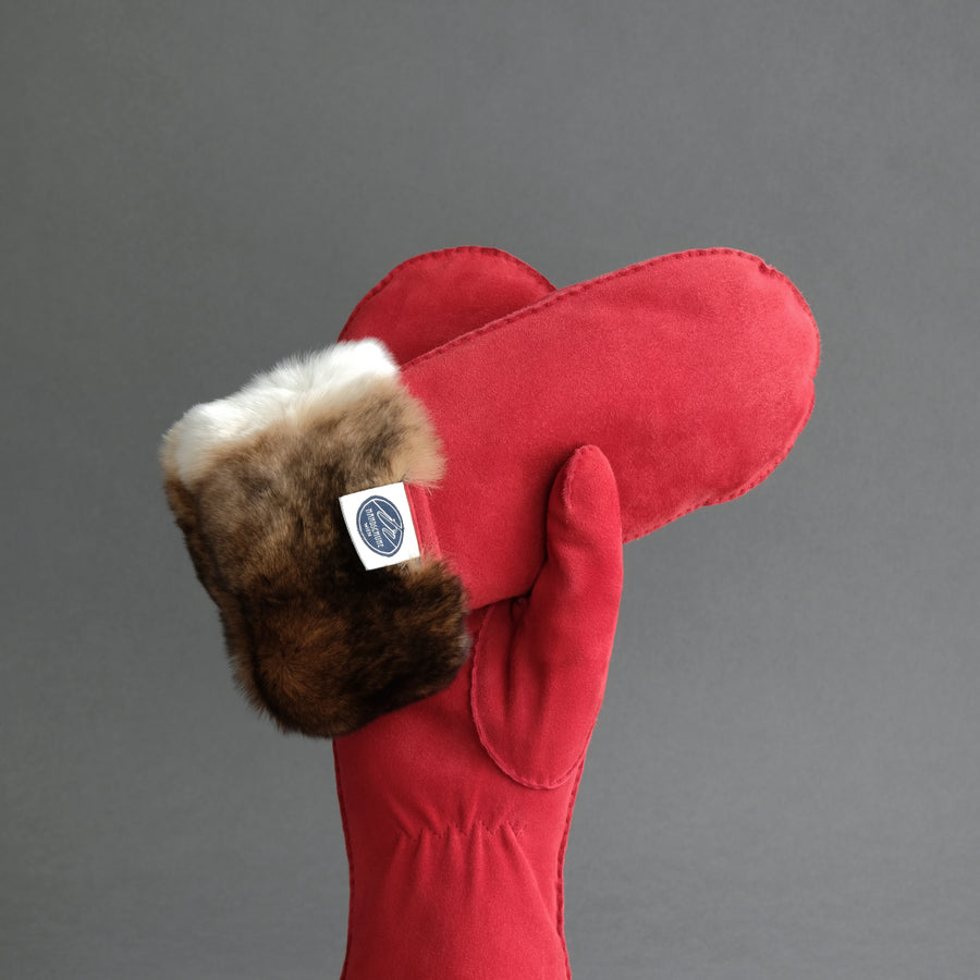 Ladies Mittens from Red Reindeer Suede With Full Orylag Lining