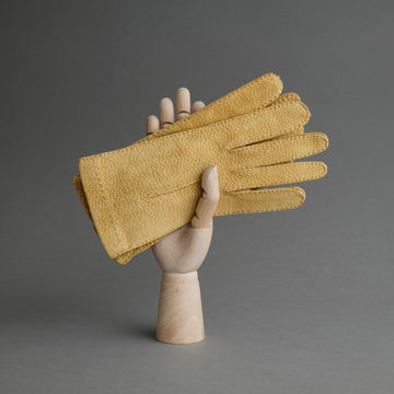 Ladies Dress Gloves from Mustard Carpincho Leather