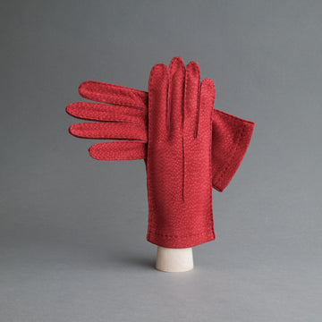Ladies Dress Gloves from Red Carpincho Leather
