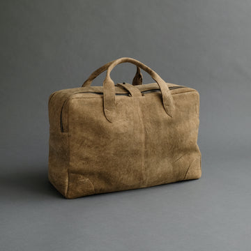 Weekender From Mustard Doeskin Suede