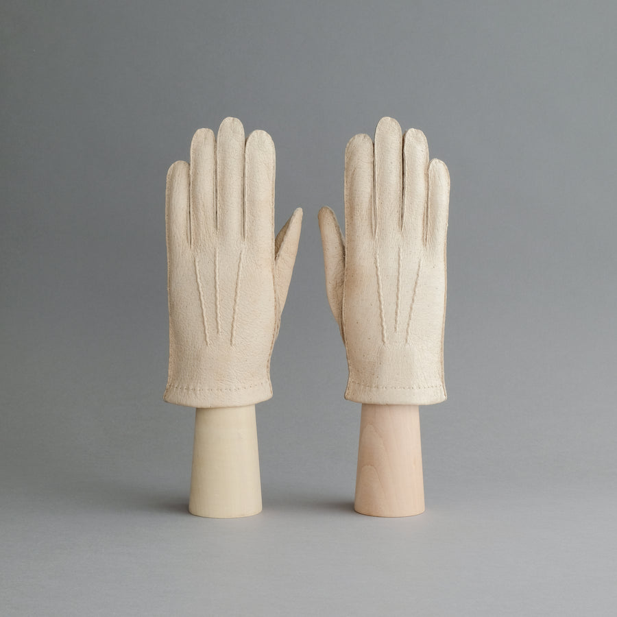 Gentlemen's Unlined Gloves from Beige Peccary