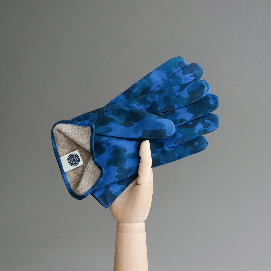 Gentlemen's Gloves from Military Blue Goatskin Lined with Cashmere