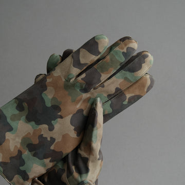 Gentlemen's Gloves from Military Green Goatskin Lined with Cashmere