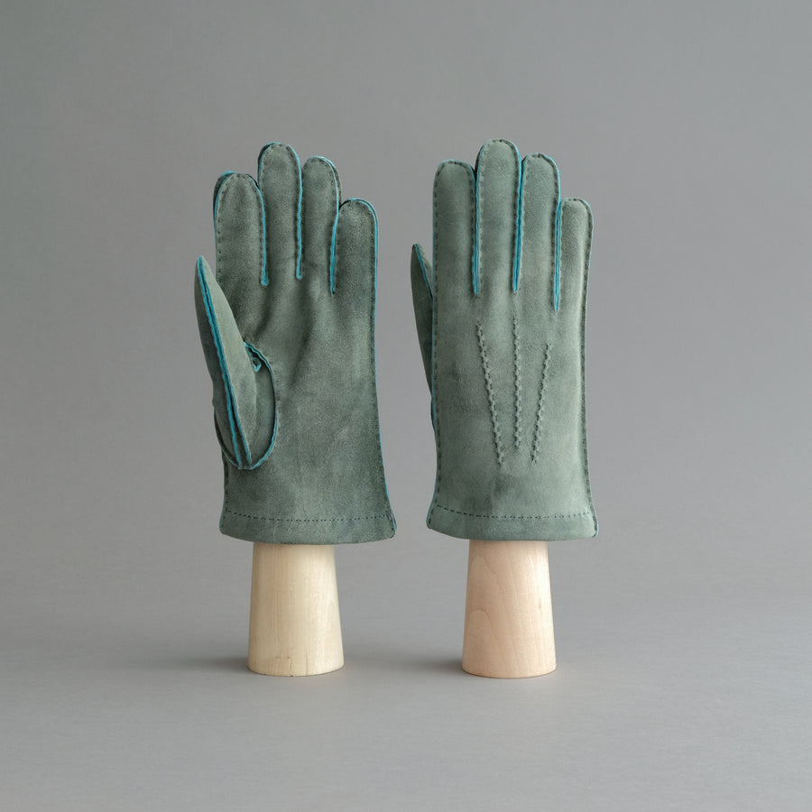 Gentlemen's Gloves from Green Goatskin Lined with Cashmere