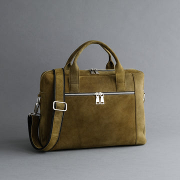 Laptop Carrying Bag Made From Goatskin Suede