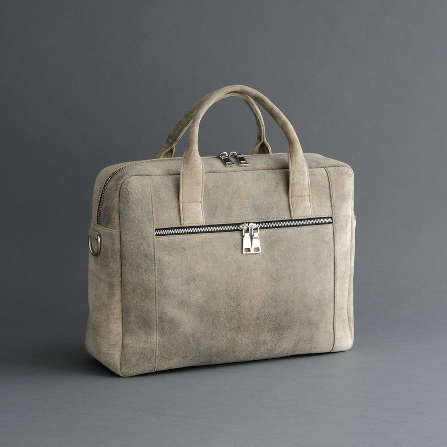 Laptop Carrying Bag Made From Desert Sand Goatskin Suede