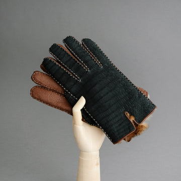 Gentlemen's Gloves from Crocodile and Peccary Leather