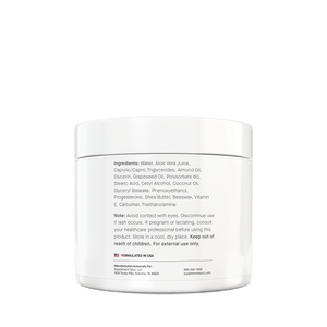 Supplement Spot - Healthy Progesterone Cream - 4 oz Tub - Ingredients