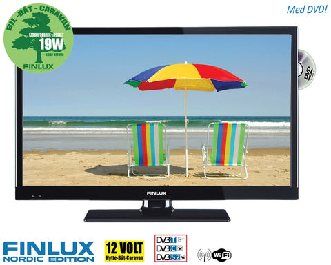 "TV Finlux 24"" LED med DVD 230V/12V T/C/S2 Smart+WIFI 19/24"