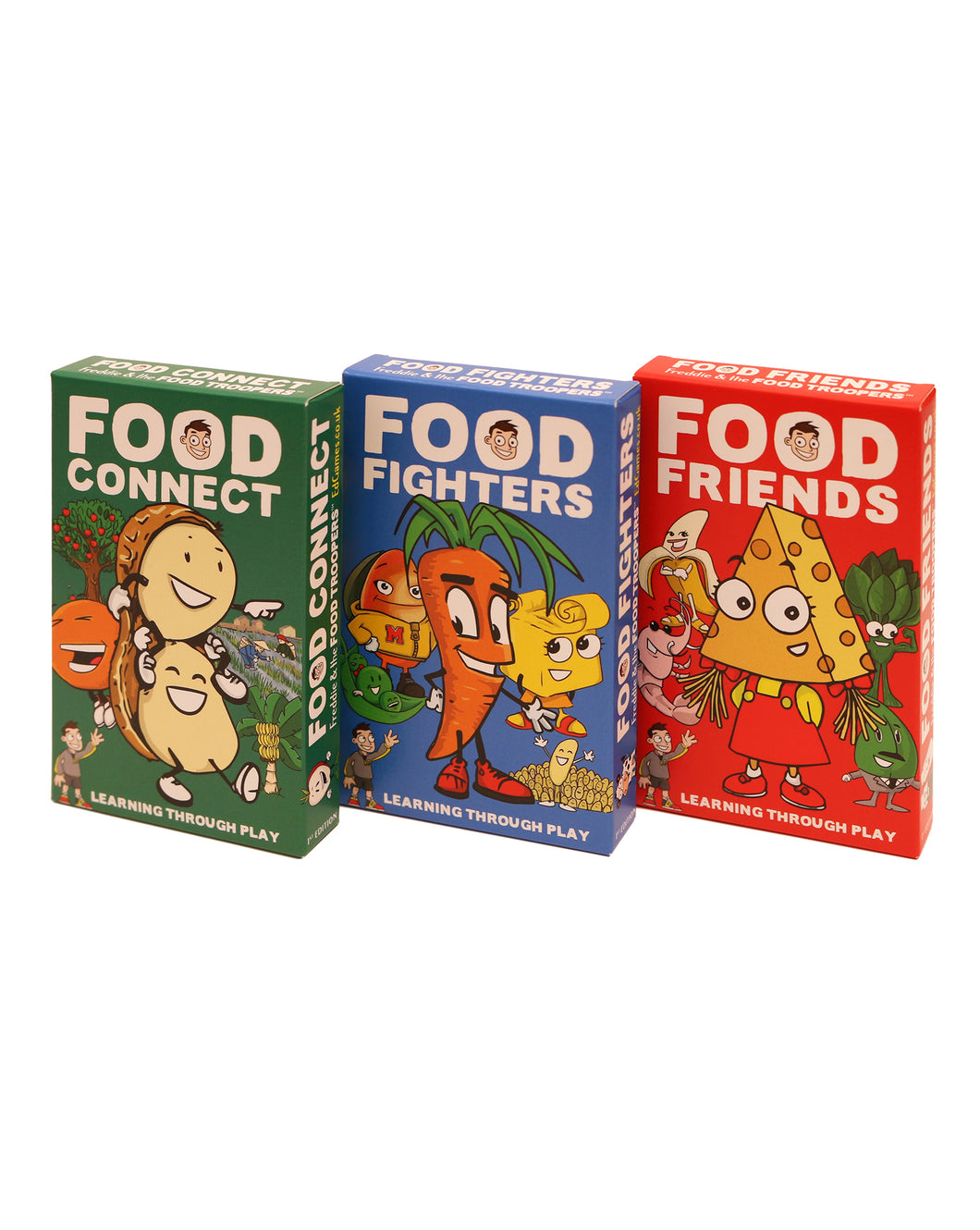 A collection of Food Connect, Food Fighters and Food Friends as a pack of 3