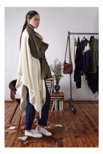 Standard Form Army Poncho- White