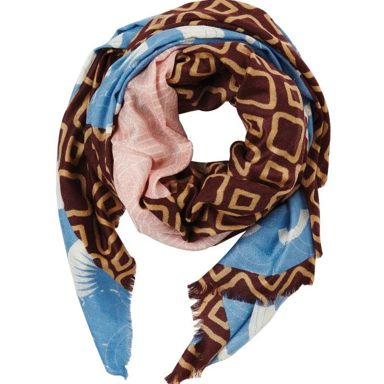 Neo Textile in Oversize Cashmere Silk Spring Scarf