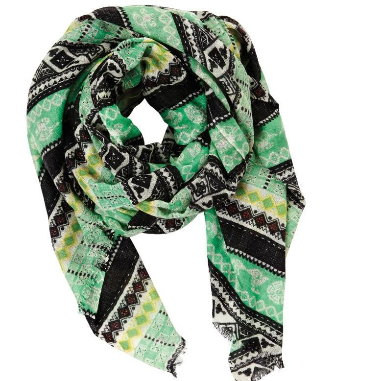 Ruins in Cashmere & Silk Lightweight Scarf