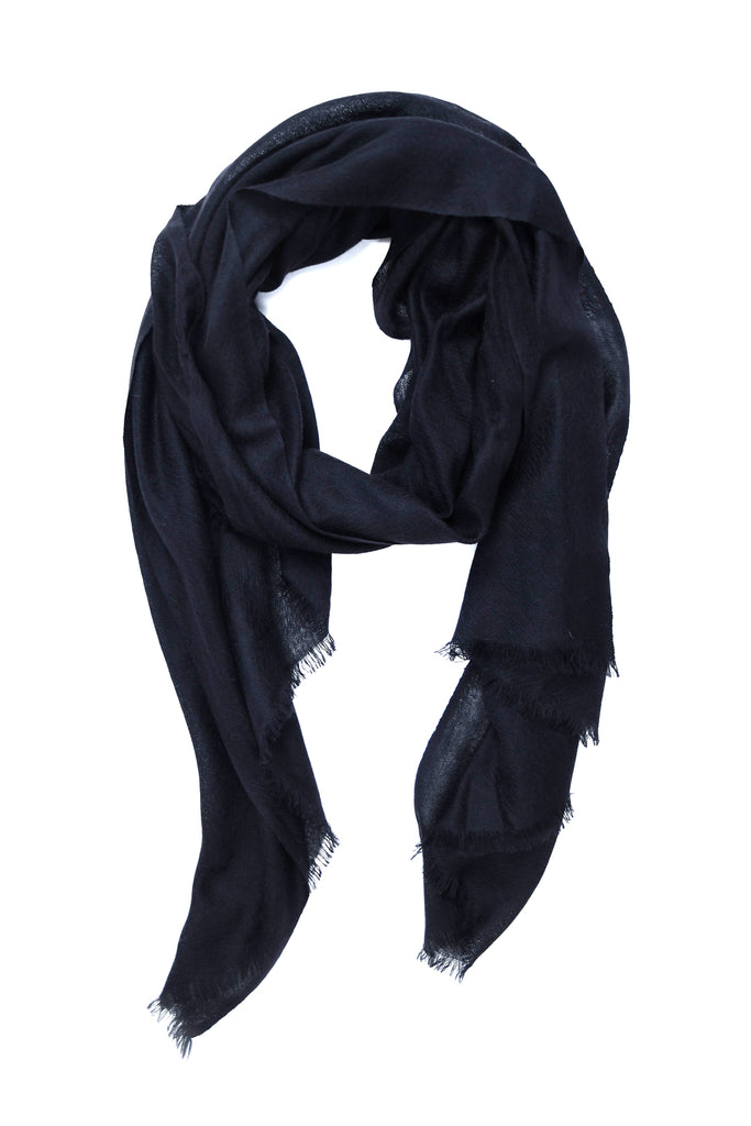 100% Cashmere basic Scarf in Black