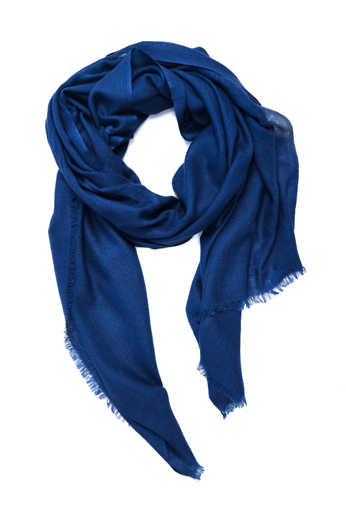100% Cashmere Basic Scarf in Navy