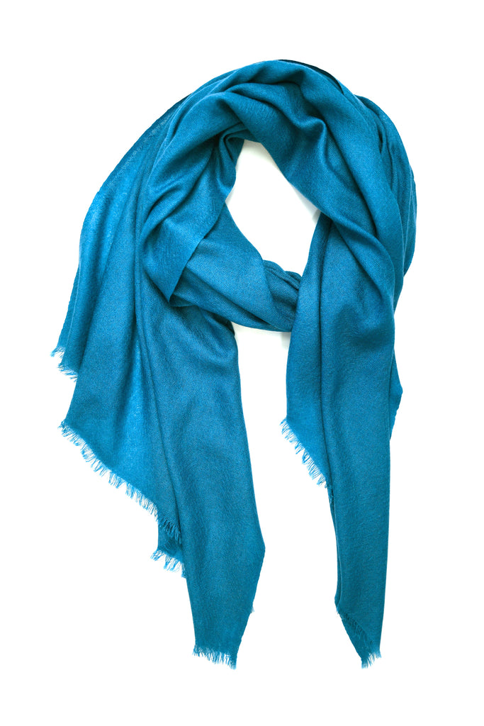 100% Cashmere Basic Scarf in Teal