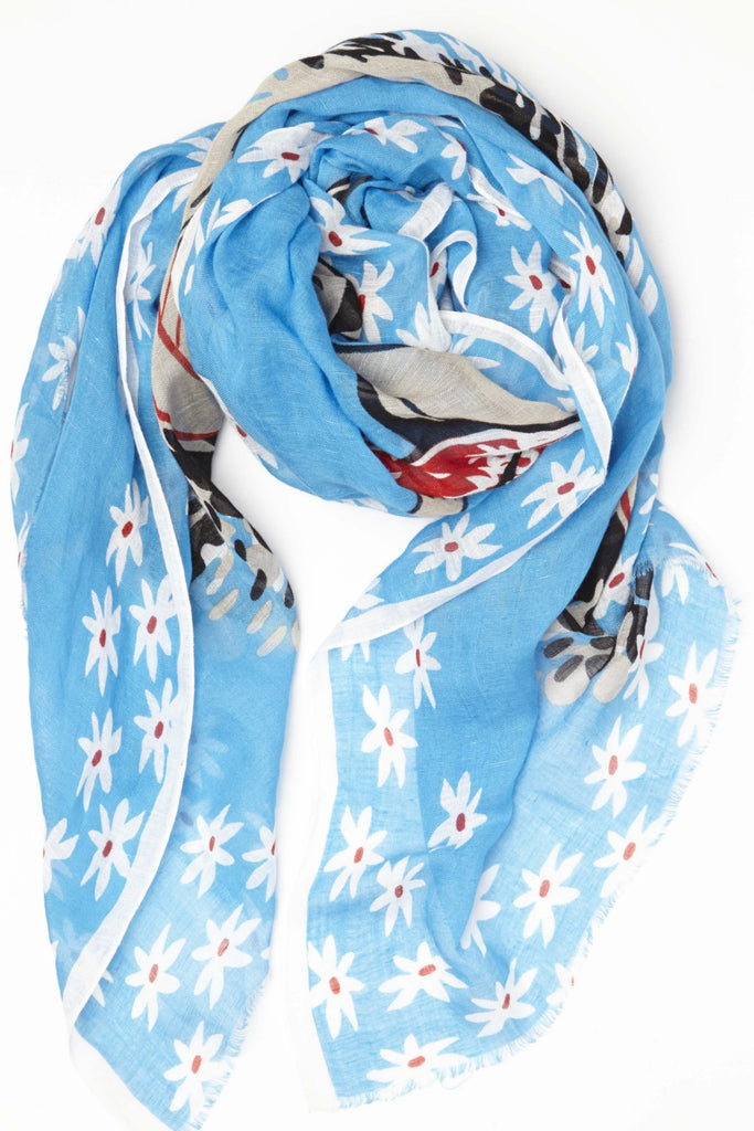 Surfer Girl Linen Summer Scarf