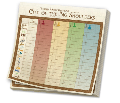City of the Big Shoulders - Replacement Scorepad