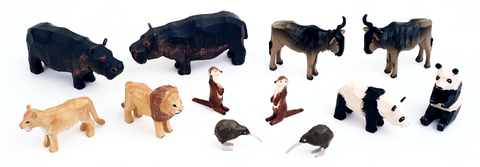 Noah's Ark Animals - 6 Pairs Assortment #1 / Size Large