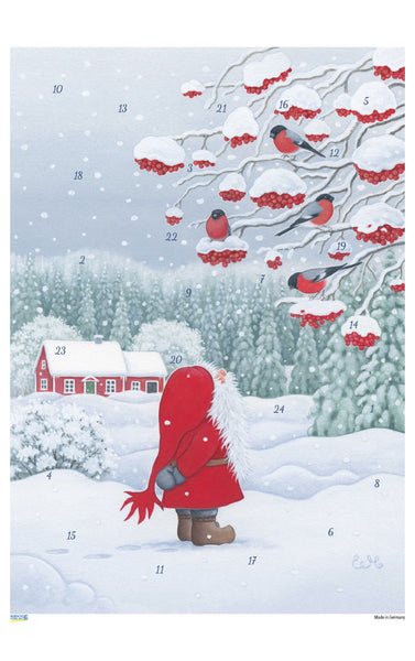 Tomten and the Bullfinches - Advent Calendar / Eva Melhuish