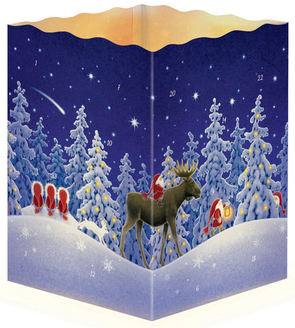 Tomten Nordic Night Scene - 3-D Advent Calendar / Eva Melhuish