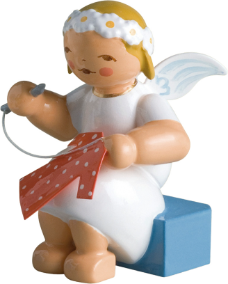 Marguerite Angel with Knitting Needle and Thread