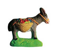 Donkey with Baskets of Fruit - Ane chargé de fruits - Size #1 / Cricket
