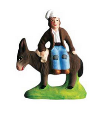 Man on a Donkey - Homme sur l' âne - Size #1 / Cricket