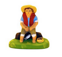 Seated Fisherman - Pêcheur Assis - Size #1 / Cricket - New 2005