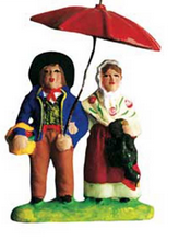 Couple under Umbrella - Couple sous le parapluie - Size #1 / Cricket