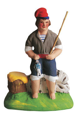 Seated Fisherman - Pêcheur Assis - Size #2 / Elite