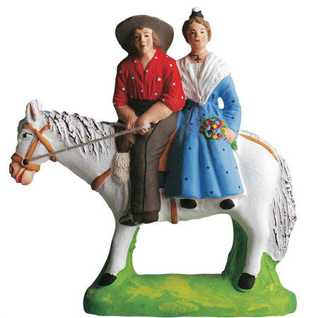 Cowherd with Woman from Arles on Horse -– Gardian avec Arlesienne - Size #2 / Elite
